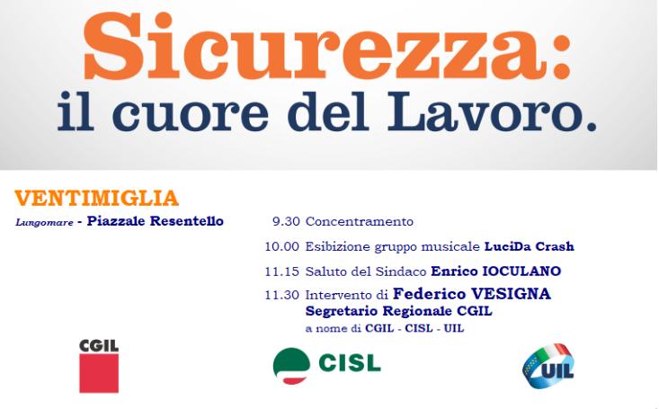 festa del lavoro 1° Maggio 2018 Ventimiglia
