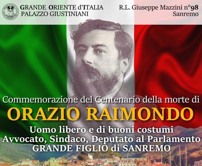 Orazio Ramondo e La Loggia Giuseppe Mazzini di Sanremo
